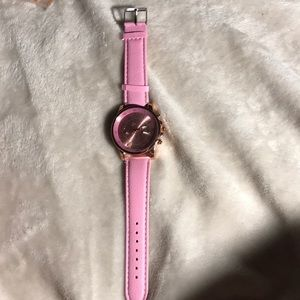 Accessories - Light pink watch with other features